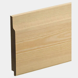 Pine 125mm Wide x 12mm Thick Shiplap Cladding Panel