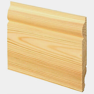 Buildworld Pine Dual Skirting Board Torus And Ogee - Various Sizes And Lengths Available