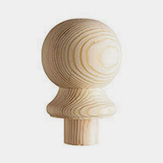 Cheshire Mouldings 85mm Wide Pine Ball Cap 132mm Long - Various Thickness Available