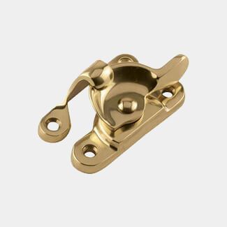 Dale Polished Brass Fitch Sash Window Fastener