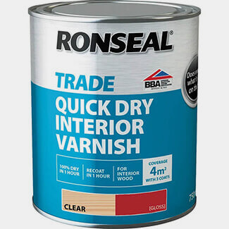 Ronseal Trade Quick Drying Interior Varnish - Sizes And Finishes Available
