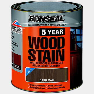 Ronseal Trade 5year Woodstain - Sizes And Finishes Available