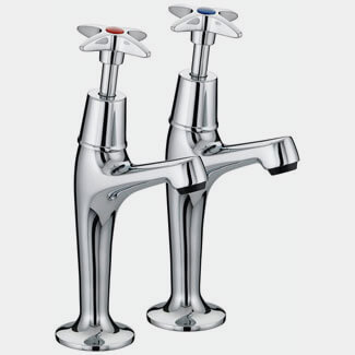Bristan X Head High Neck Pillar Taps