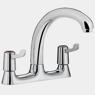 Bristan Value Lever Deck Kitchen Sink Mixer Tap