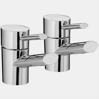 Bristan Oval Deck Mounted Basin Taps Pair