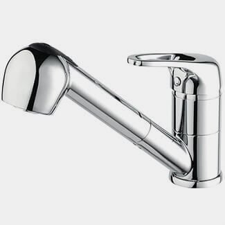 Bristan Pear Sink Mixer Tap With Pull Out Hose
