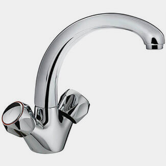 Bristan Value Club Monobloc Kitchen Sink Mixer Tap With Metal Heads