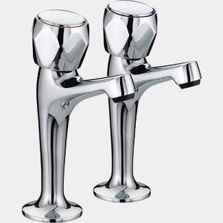 Bristan Value Club High Neck Kitchen Pillar Taps