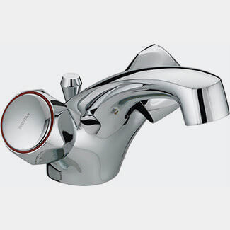 Bristan Value Club Dual Flow Basin Mixer Tap With Pop Up Waste
