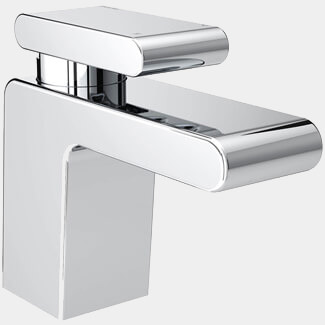 Bristan Pivot Deck Mounted Basin Mixer Tap With Clicker Waste