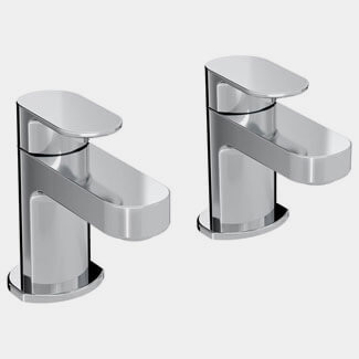 Bristan Frenzy Pair Of Deck Mounted Bath Taps