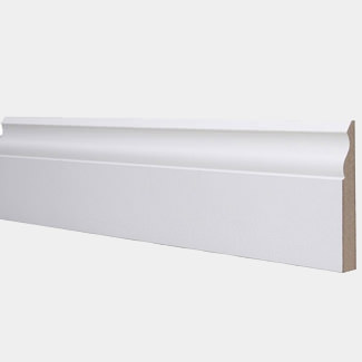 Build World Ogee Skirting Board MDF White Primed 18 x 144 x 4400mm