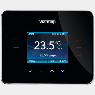 WarmUp 3iE Energy Monitor Thermostat Piano Black