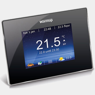 WarmUp 4iE Smart WiFi Thermostat Onyx Black