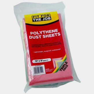 Fit For The Job Poly Dust Sheet Coloured 3 Pack