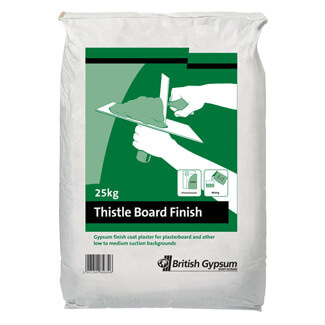 British Gypsum Thistle Board Finish 25Kg - Various Quantity Available