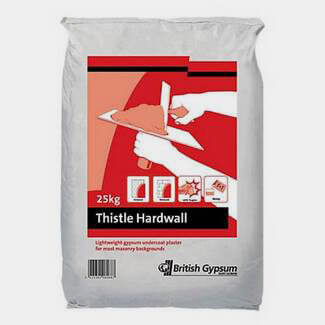 British Gypsum Thistle Hardwall 25Kg - Various Quantity Available