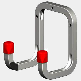 Rothley Galvanised Steel 90mm Double Wall Hook