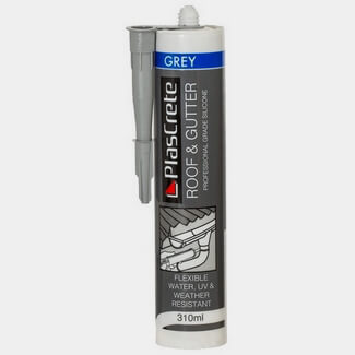PlasCrete Grey Lead Sheet Roof And Gutter 310ml Silicone