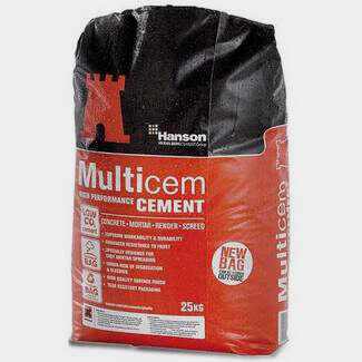Hanson Multicem Air Entrained Cement 25Kg