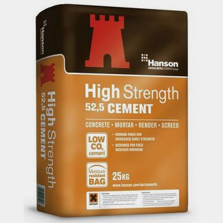 Hanson High Strength Rapid Hardening Cement 52 5N 25KG