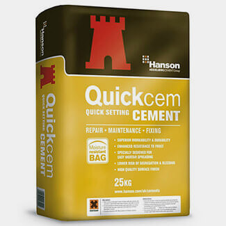 Hanson Quickcem Fast Setting Cement 25Kg