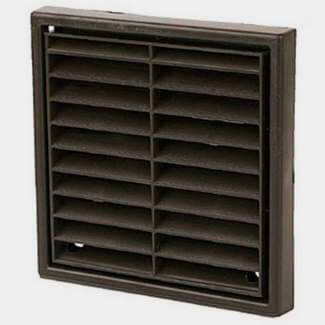 Manrose Louvre Grill Fixed Vent 100mm - Various Colours Available