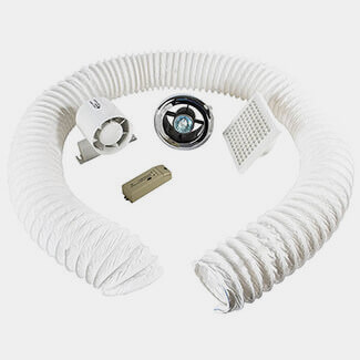 Manrose Timed Showerlite Fan Kits 100mm