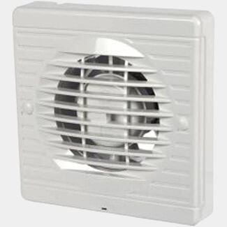 Manrose Axial Wall/Ceiling Humidity Fan White 100mm