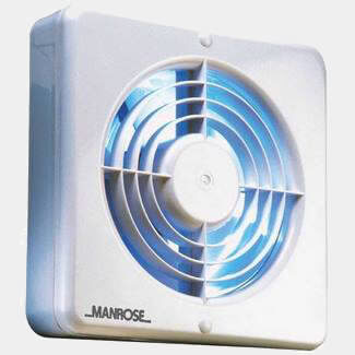 Manrose White Pull Cord Extractor Fan 150mm