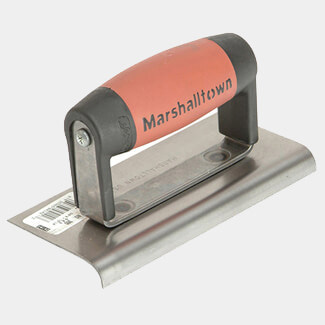 Marshalltown 6 x 3 Inch Cement Edger Straight End With Durasoft Handle